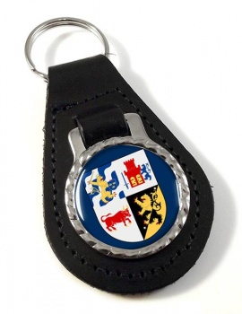 Vastra Gotaland (Sweden) Leather Key Fob