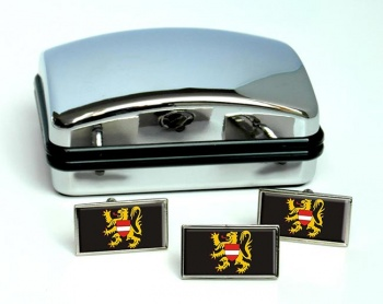Vlaams-Brabant (Belgium) Flag Cufflink and Tie Pin Set