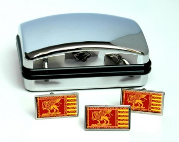 Venice Venezia (Italy) Flag Cufflink and Tie Pin Set