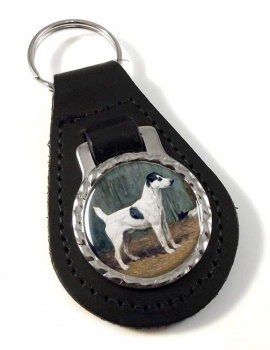 VENIO (A Fox Terrier) by John Emms Leather Key Fob