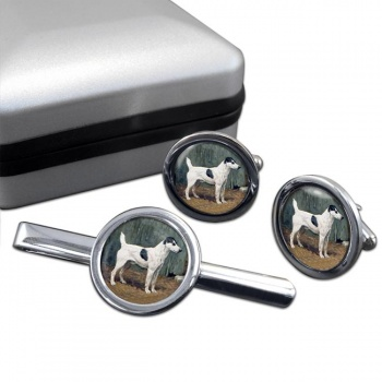 VENIO (A Fox Terrier) by John Emms  Cufflink and Tie Clip Set