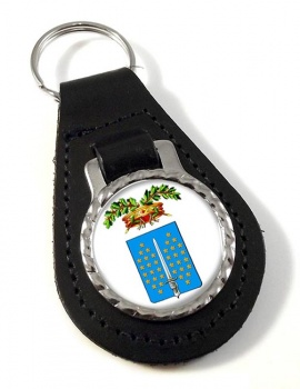 Vercelli (Italy) Leather Key Fob