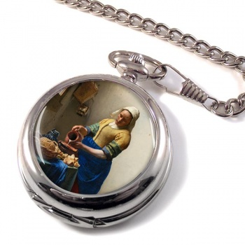 Het Melkmeisje by Vermeer Pocket Watch