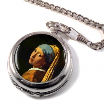 Girl with the Pearl Earring by Vermeer Pocket Watch