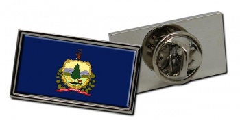 Vermont  Flag Pin Badge