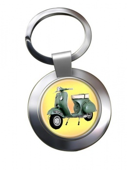 Vespa Chrome Key Ring