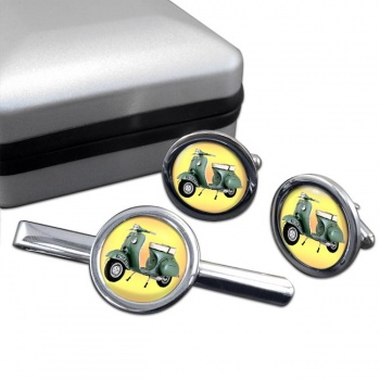 Vespa Cufflink and Tie Clip Set