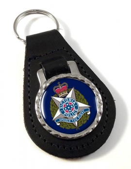 Victoria Police Leather Key Fob
