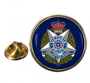 Victoria Police Round Pin Badge