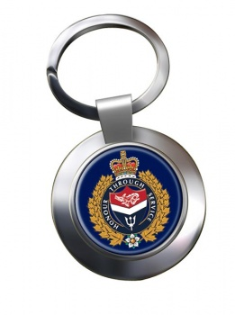 Victoria Police (Canada) Chrome Key Ring