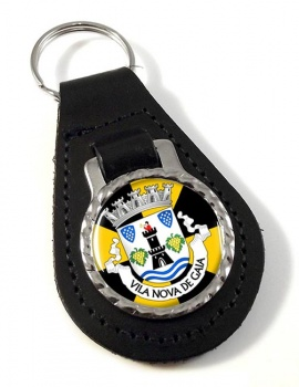 Vila Nova de Gaia (Portugal) Leather Key Fob