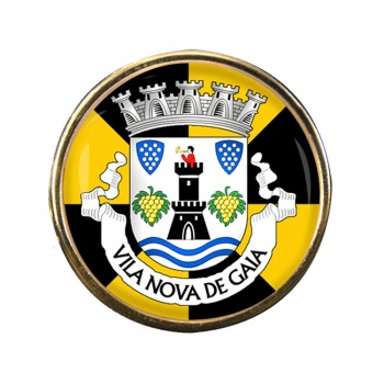 Vila Nova de Gaia (Portugal) Round Pin Badge