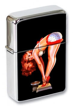 Vintage Pin-up Girl Flip Top Lighter