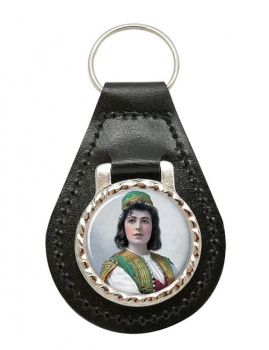Viola Allen Leather Key Fob