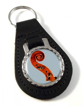 Violin Leather Key Fob