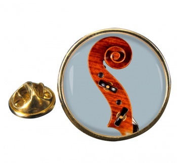Violin Round Pin Badge