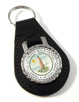 Virginia Beach VA  Leather Key Fob