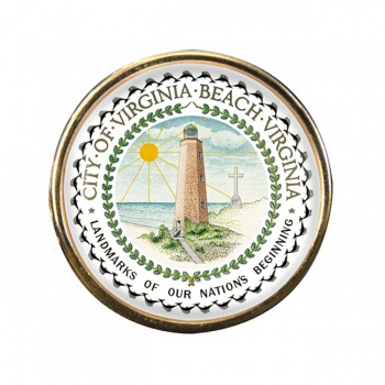 Virginia Beach VA Round Pin Badge