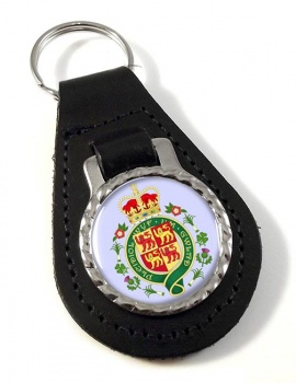 Welsh Coat of arms Leather Key Fob