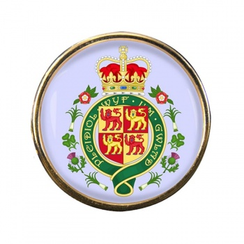 Welsh Coat of arms Round Pin Badge