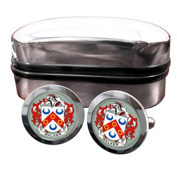 Walker Coat of Arms Round Cufflinks