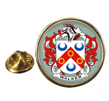 Walker Coat of Arms Round Pin Badge