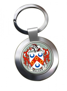 Walker Coat of Arms Chrome Key Ring