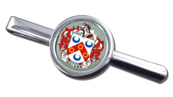 Walker Coat of Arms Round Tie Clip
