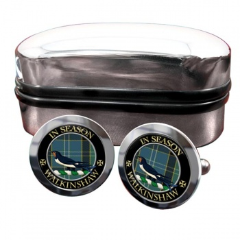 Walkinshaw Scottish Clan Round Cufflinks