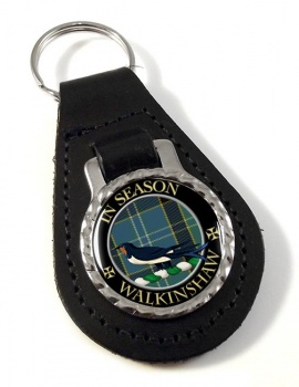 Walkinshaw Scottish Clan Leather Key Fob