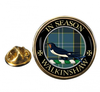 Walkinshaw Scottish Clan Round Pin Badge