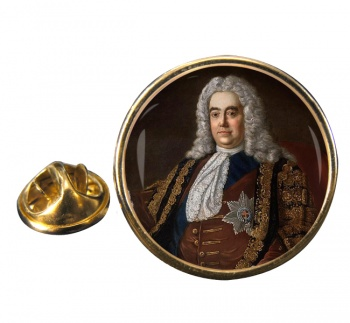 Robert Walpole Round Pin Badge