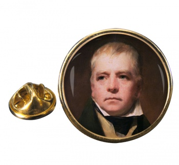 Walter Scott Round Pin Badge