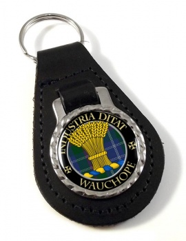 Wauchope Scottish Clan Leather Key Fob