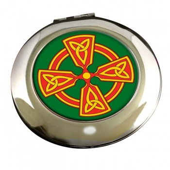 Welsh Celtic Cross Round Mirror