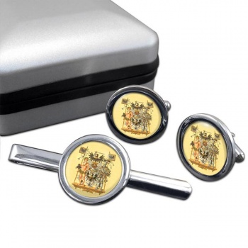 Westpreussen (Germany) Round Cufflink and Tie Clip Set