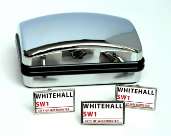 Whitehall Rectangle Cufflink and Tie Pin Set