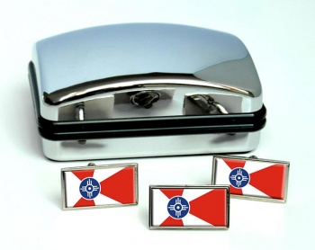 Wichita KS  Flag Cufflink and Tie Pin Set
