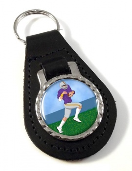 Wide Receiver Leather Key Fob