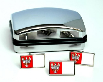 Wielkopolskie (Poland) Flag Cufflink and Tie Pin Set