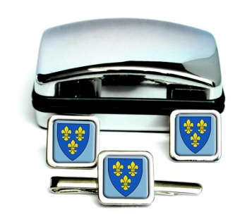 Wiesbaden (Germany) Square Cufflink and Tie Clip Set