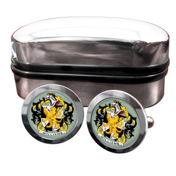 Williams Coat of Arms Round Cufflinks