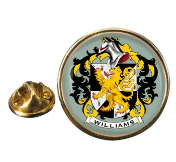 Williams Coat of Arms Round Pin Badge