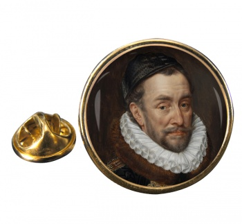 Willem van Oranje Round Pin Badge