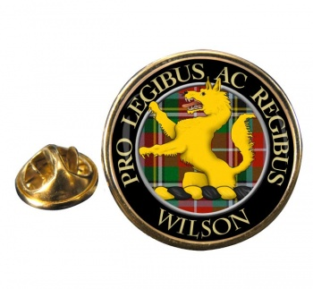 Wilson Scottish Clan Round Pin Badge