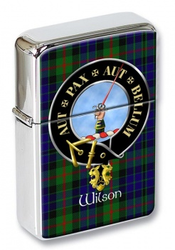 Wilson of Gunn Scottish Clan Flip Top Lighter
