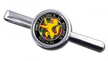 Wilson Scottish Clan Round Tie Clip