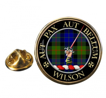 Wilson of Gunn Scottish Clan Round Pin Badge