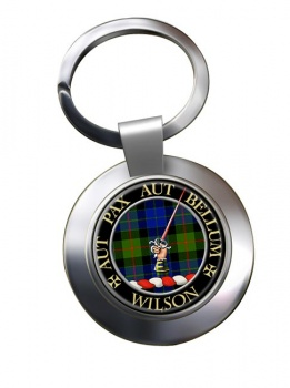 Wilson of Gunn Scottish Clan Chrome Key Ring