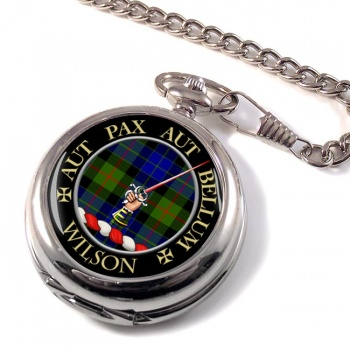 Wilson of Gunn Scottish Clan Pocket Watch